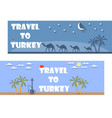 welcome to turkey banner in a flat style vector image