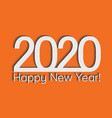 2020 creativity inspiration concept orange vector image vector image