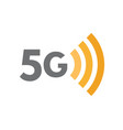 5g network technology symbol fifth generation vector image