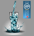 advertising design soda water transparent water vector image
