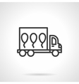 Balloons delivery black line design icon vector image vector image