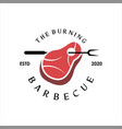 bbq logo simple barbecue label vector image vector image