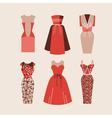 Beautiful woman dresses eps 10 vector image vector image