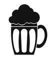 Beer icon simple style vector image vector image