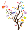 Bird on tree vector image vector image