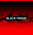 black friday big sale seasonal banner sales vector image vector image