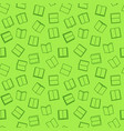 book green seamless pattern in thin line vector image