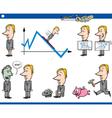 business cartoon concept set vector image