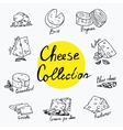 Cheeses collection Isolated vector image vector image