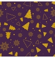 Christmas and New Year seamless pattern For vector image vector image