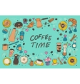 Coffee outline collection vector image