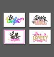colorful graffiti fonts slogan vector image