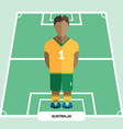 Computer game Australia Soccer club player vector image vector image