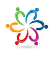 creative teamwork people together logo vector image vector image