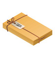 delivery packet icon isometric style vector image vector image