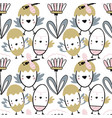 easter seamless pattern with flowers chiks and vector image vector image