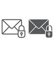 email protection line and glyph icon mail and vector image vector image