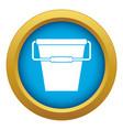 empty bucket icon blue isolated vector image vector image