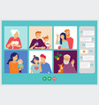 family grandparents children couple young vector image vector image