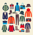 fashion clothes and accessorie vector image vector image