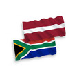 flags latvia and republic south africa on a vector image