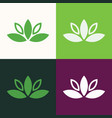 flower green logo vector image vector image