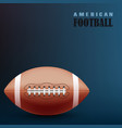 football blue background with ball template vector image