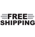 Free shipping text vector image vector image