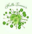 fresh green summer abstract splash design vector image vector image