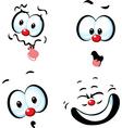 funny cartoon face - grin vector image vector image