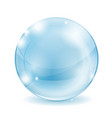 glass sphere blue transparent glass ball vector image vector image