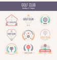 golf club logo vector image vector image