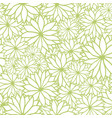 green and white floral seamless pattern vector image