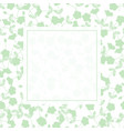 green flower banner on white background vector image
