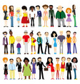 group of diverse people vector image