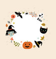 halloween frame for text vector image