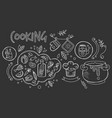 hand drawn design of cooking ingredients vector image vector image