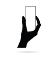 hand with card empty black vector image vector image