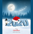 happy new year 2020 background with a winter vector image vector image