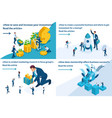 isometric mentorship research reliable investment vector image vector image