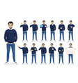 man in casual clothes set vector image vector image