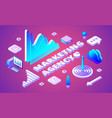 marketing agency isometric vector image vector image