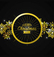 merry christmas holiday event card vector image vector image