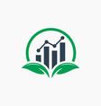 Modern green leaf financial logo