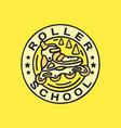 modern professional logo emblem roller vector image