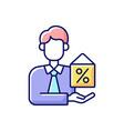 mortgage broker rgb color icon