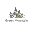 mountain leaves vector image