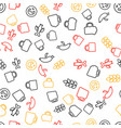 oktoberfest seamless pattern with drink and food vector image vector image