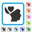 open mind love heart framed icon vector image