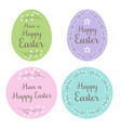 pastel happy easter egg and circle gift tags vector image